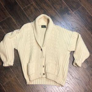 Vintage rossan knit cardigan fisherman size medium